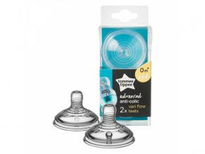 detska savicka tomme tippee advanced anti colic vari flow 0 2 kusy