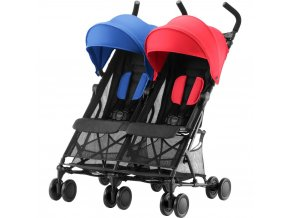golfovy detsky kocarek pro dvojcara britax holiday double red blue