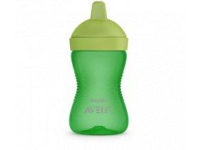 detsky hrnecek philips avent s tvrdou hubickou 300 ml zelena