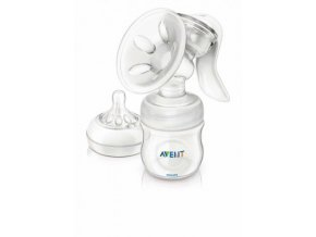 odsavacka materskeho mleka philips avent natural manualni zasobnik 125 ml via kelimky