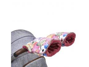 rukavice na kocarek little angel mazlik novinka kremova medvidci