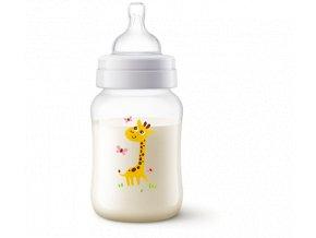 kojenecka lahev philips avent anti colic zirafa 260 ml