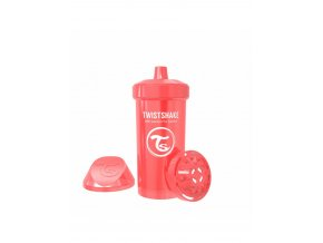 detska lahev twistshake 12m 360 ml pearl red