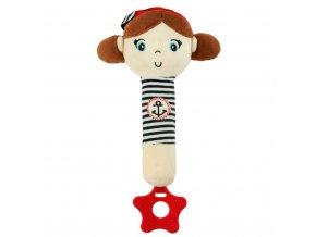 detska plysova hracka baby mix namornik s piskatkem holka