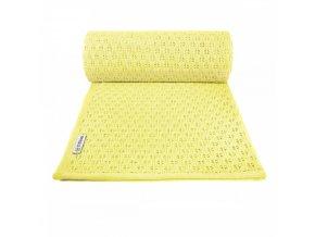 detska pletena deka t tomi summer 80 x 100 cm zluta