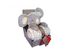detska deka s plysovou hrackou bobobaby koala