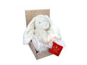 detska deka s plysovou hrackou bobobaby kralicek