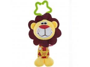 detska plysova hracka na kocarek akuku s chrastitkem lev