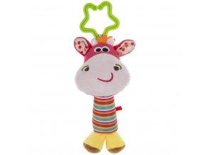 detska plysova hracka na kocarek akuku s chrastitkem jelen