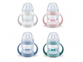 detska lahev na uceni nuk nature sense 6 18 mesicu 150 ml ruzova