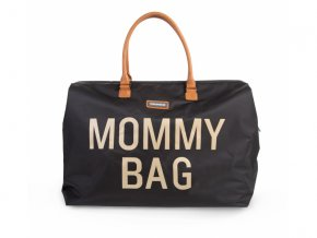 prebalovaci taska childhome mommy bag big black gold
