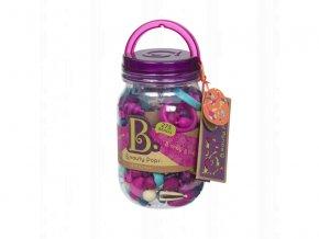 detska edukacni hracka b toys spojovaci korale a tvary pop arty 275 kusu fialova