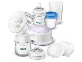 prsni odsavacka materskeho mleka philips avent natural elektronicka sada pro kojeni