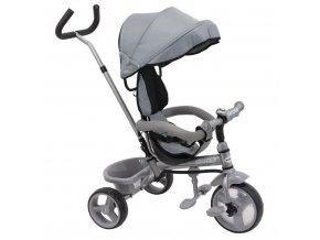 detska trikolka baby mix ecotrike s bezpecnostnimy pasy grey