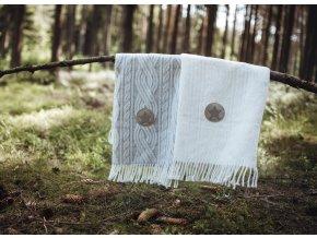 detska deka pled little angel trasne 70 x 100 cm natur 2