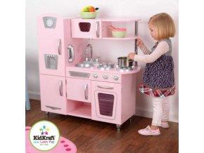 detska kuchynka kidkraft pink vintage