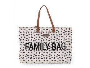 cestovni prebalovaci taska childhome family bag canvas leopard