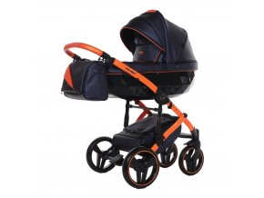 detsky kocarek junama fluo line 2 03 blue orange