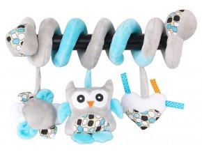 detska hracka na kocarek sunbaby spirala modra sovicka