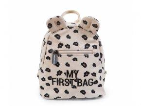 detsky batuzek childhome my first bag canvas leopard