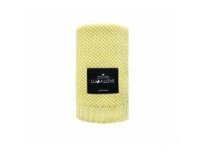 detska bambusova deka lullalove 80 x 100 cm citron