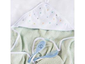 Dětská osuška BabyOno s kapucí froté 100 x 100 cm