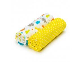Dětská plenková osuška T-Tomi bavlněná 2 kusy