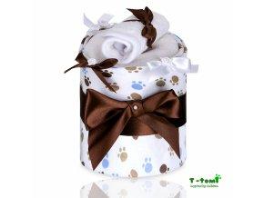 Plenkový dort T-Tomi Lux Tlapky bílé-malý