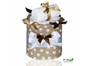 Plenkový dort T-Tomi Lux Tlapky béžové-malý