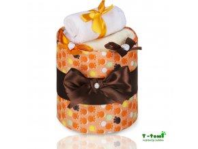 Plenkový dort T-Tomi Lux Tlapky oranžové-malý