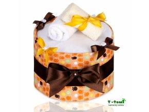 Plenkový dort T-Tomi Lux Tlapky oranžové-velký