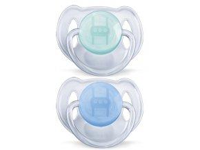 Dětské šidítko Philips Avent Průhledné 6-18 měsíců-2 kusy