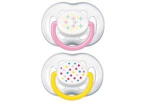 Dětské šidítko Philips Avent Sensitive Fantazie 6-18 měsíců-2 kusy
