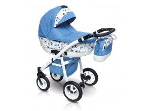 Dětský kočárek Camarelo Smile, Vision Design modrý