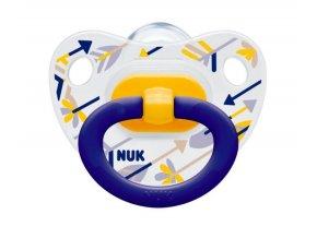 Dětské šidítko Nuk Classic Happy Days silikon 18-36 měsíců