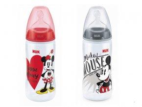 Kojenecká láhev Nuk First Choice Disney Mickey silikonová 6-18 měsíců 300 ml