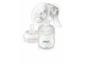 odsavacka materskeho mleka avent natural manualni zasobnik 125 ml krem