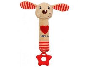 Dětská plyšová hračka Baby Mix Pejsek s pískátkem