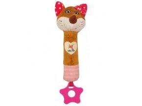 Dětská plyšová hračka Baby Mix Liška s pískátkem