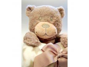 Dětská deka s plyšovou hračkou Bobobaby Medvídek
