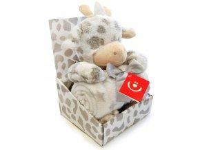 Dětská deka s plyšovou hračkou Bobobaby Žirafa