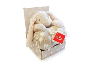 Dětská deka s plyšovou hračkou Bobobaby Králík