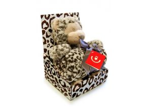 Dětská deka s plyšovou hračkou Bobobaby Leopard
