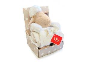 Dětská deka s plyšovou hračkou Bobobaby Ovečka