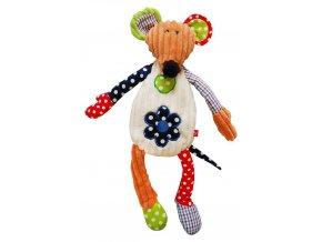 Dětská plyšová hračka Bobobaby Patchwork Farm Myška 43 cm