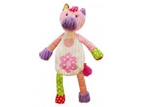 Dětská plyšová hračka Bobobaby Patchwork Farm Koníček 43 cm
