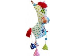 Dětská plyšová hračka Bobobaby Patchwork Koník s chrastítkem