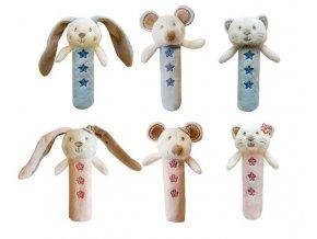 Dětská plyšová hračka Bobobaby Zajíček pískací