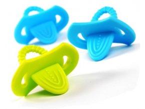 Sada dětských elastických kousátek BabyOno Dudlík