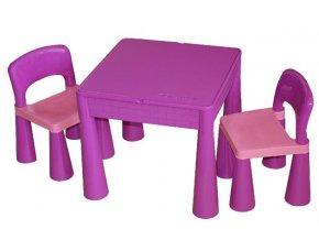 Dětský stoleček a židličky Tega Mamut-fialová